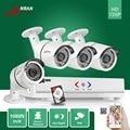 Anran 4ch ahd dvr 4 unids 1800tvl 1080n 720 p cctv 36ir impermeable sistema de cámara de seguridad inicio de vigilancia de vídeo con 500 gb hdd