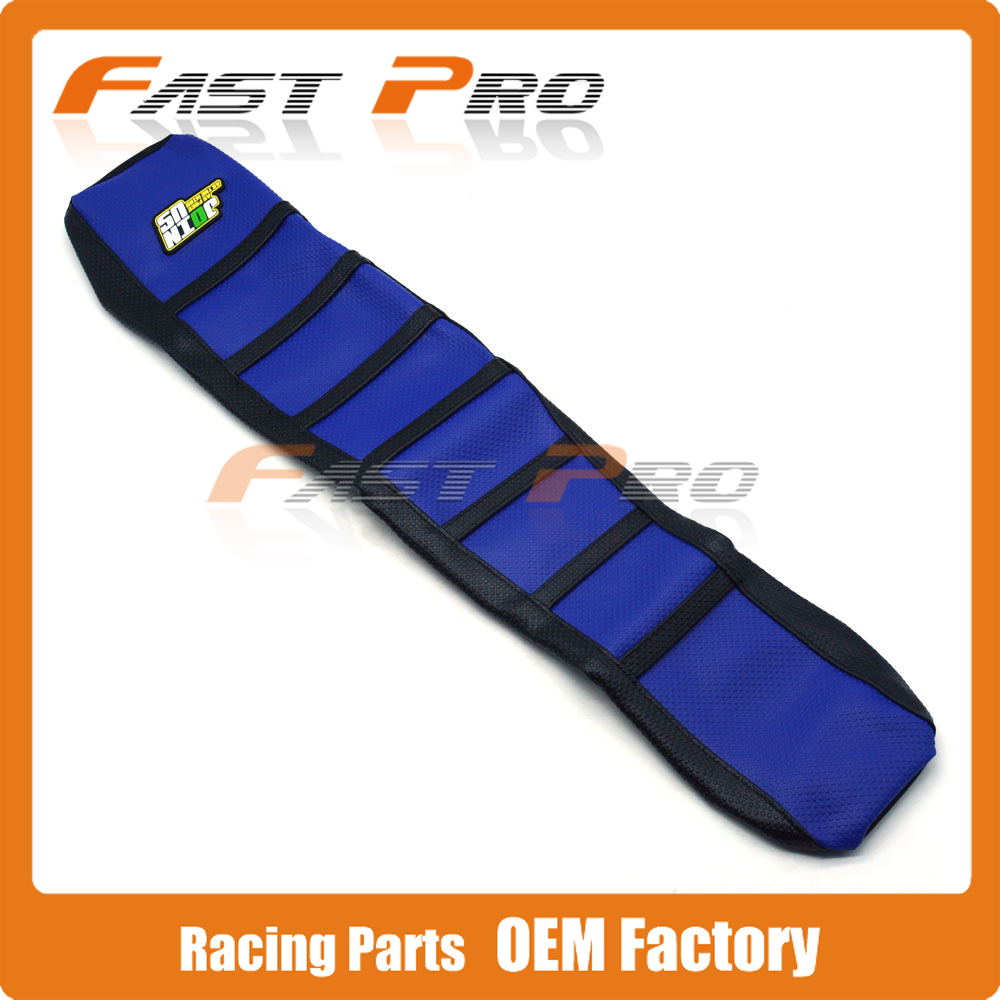 Pro Rib Ribbed Blue Gripper Soft Rubber Seat Cover For YZ125 YZ250 1996-2001 96 97 98 99 00 01 Motorcycle