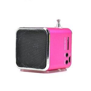 Image 2 - Multifunzione radio FM TDV26 portatile micro USB altoparlanti radio del telefono mobile di vibrazione lettore musicale del computer Ricaricabile