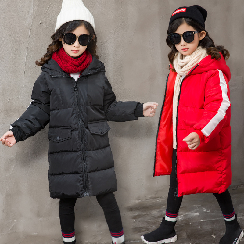 2018 New Winter Children Boys Girls Jackets Baby Down Cotton Coat Kids Thick Warm Outerwear Hooded Coat snowsuit Overcoat P29 цена