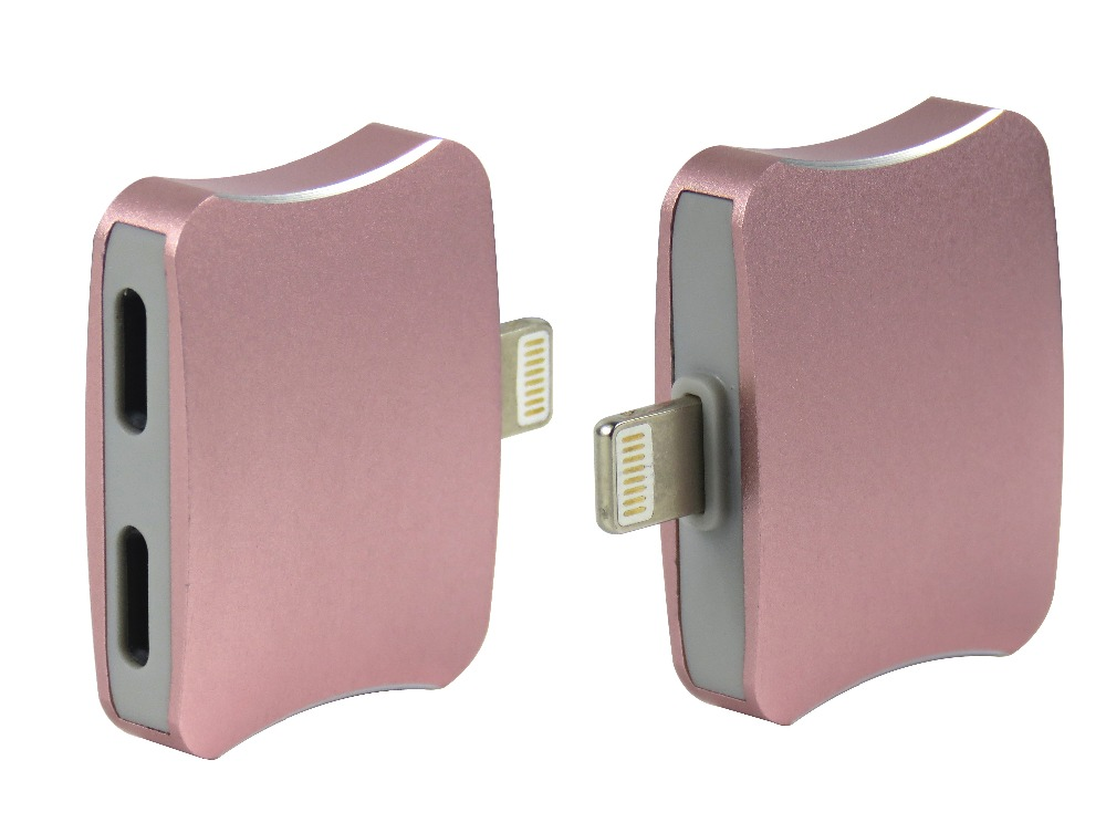 STARAUDIO 2Pcs Pink Lightning to <font><b>Audio</b></font> 2 in1 Headphone <font><b>Charger</b></font> Adapter Connector For <font><b>iPhone</b></font> <font><b>7</b></font> plus Ipad PINKIPHONE Connector