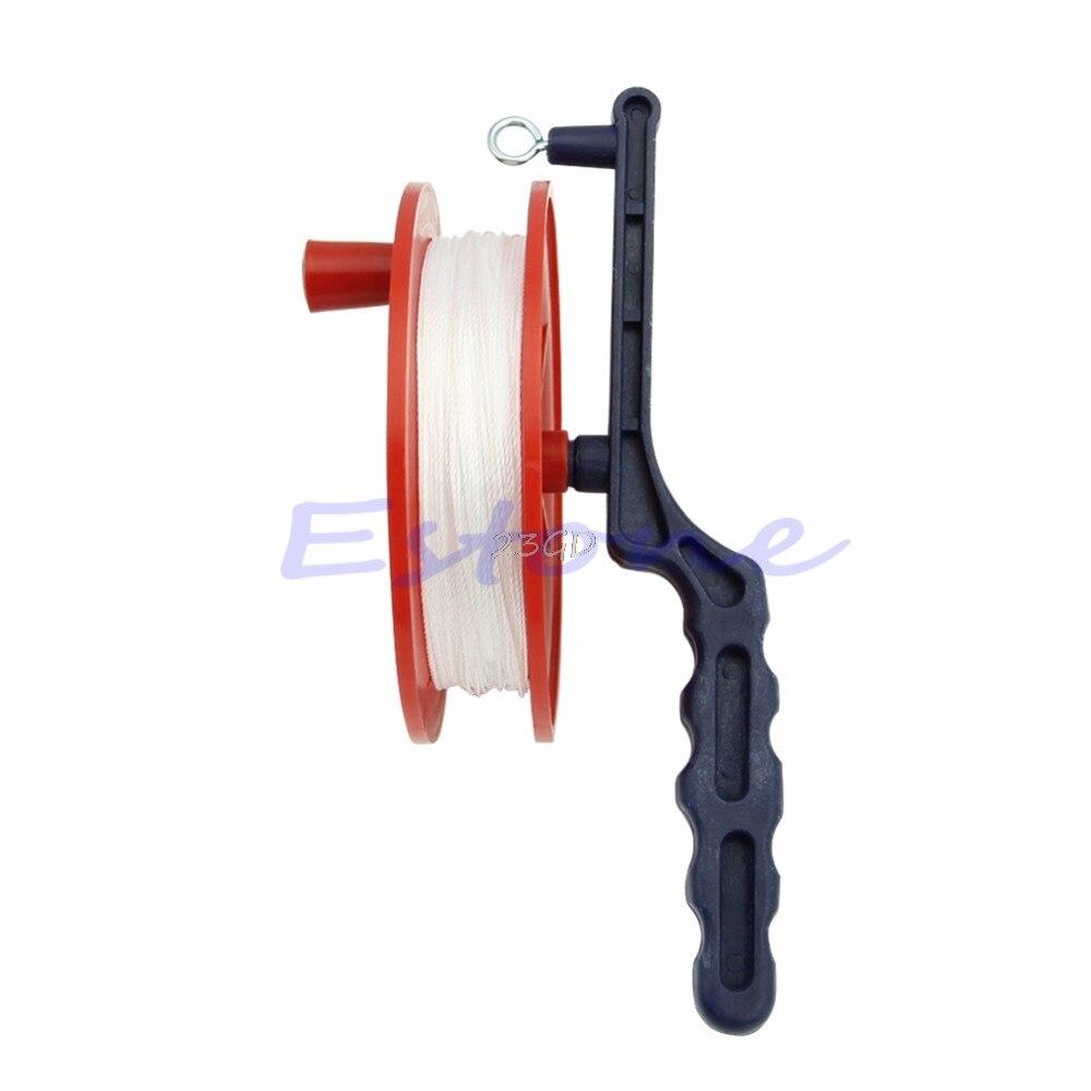 2017 Preety Outdoor Ball Bearing Wheel Kite Winder Tool Reel Handle Line String Winder 60M   MAY10_35