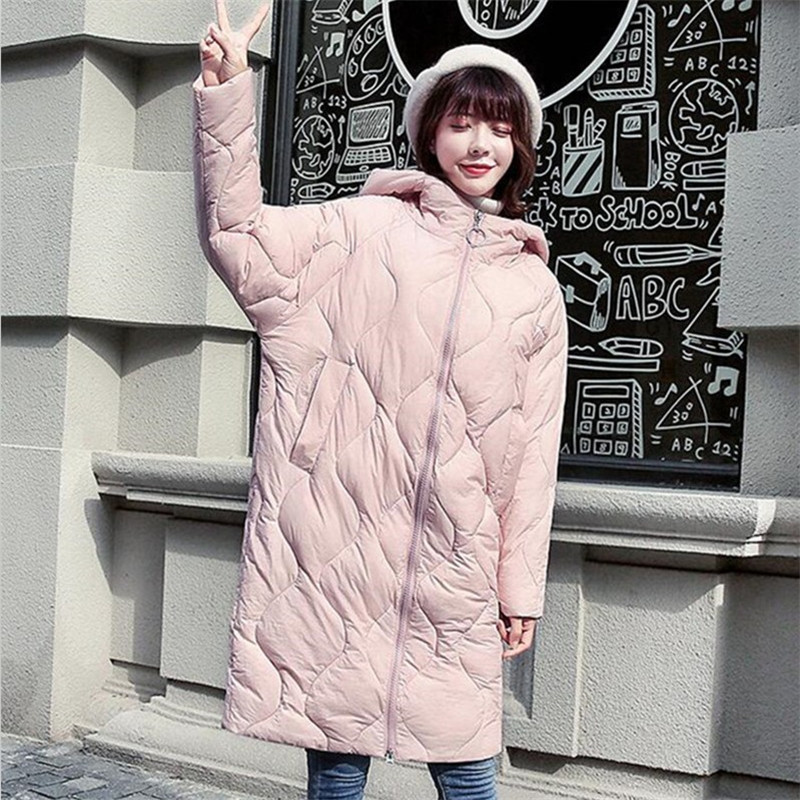 2019 Women Winter Fashion Casual Bread   Parkas   Thicken Cotton Warm Long Jackets Slim Paddded Preppy Style Coats Plus Size Hooded
