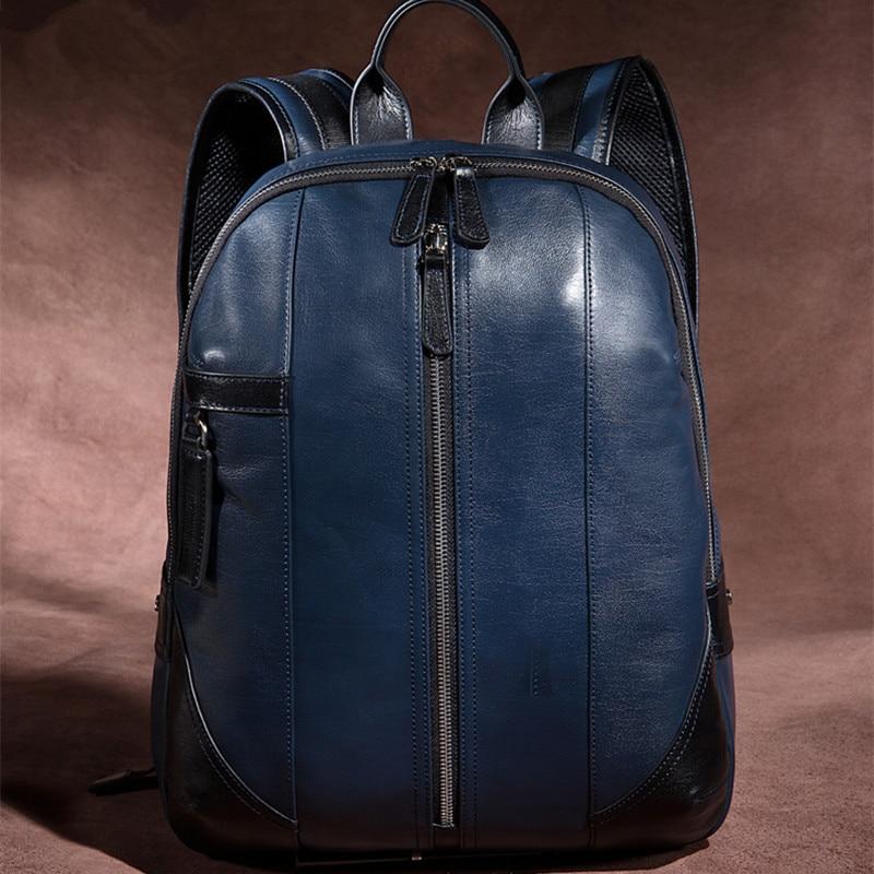 Free Shipping High Grade Genuine Leather Backpack, Pabojoe Brand 2018 New 100% Cowhide Mochila Men's Fashion Travel Bag pabojoe brand 100