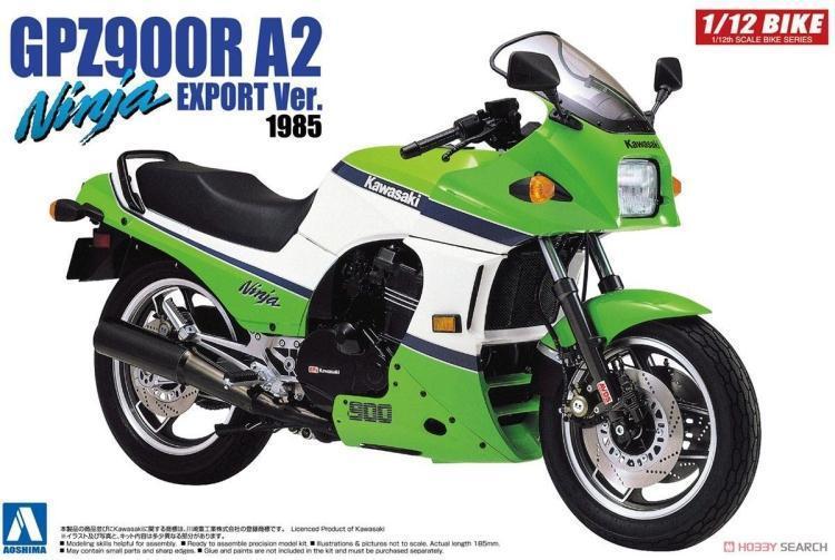 1/12 Kawasaki GPZ 900 R Ninja A2 Tipi Montaj Motosiklet 053971/12 Kawasaki GPZ 900 R Ninja A2 Tipi Montaj Motosiklet 05397