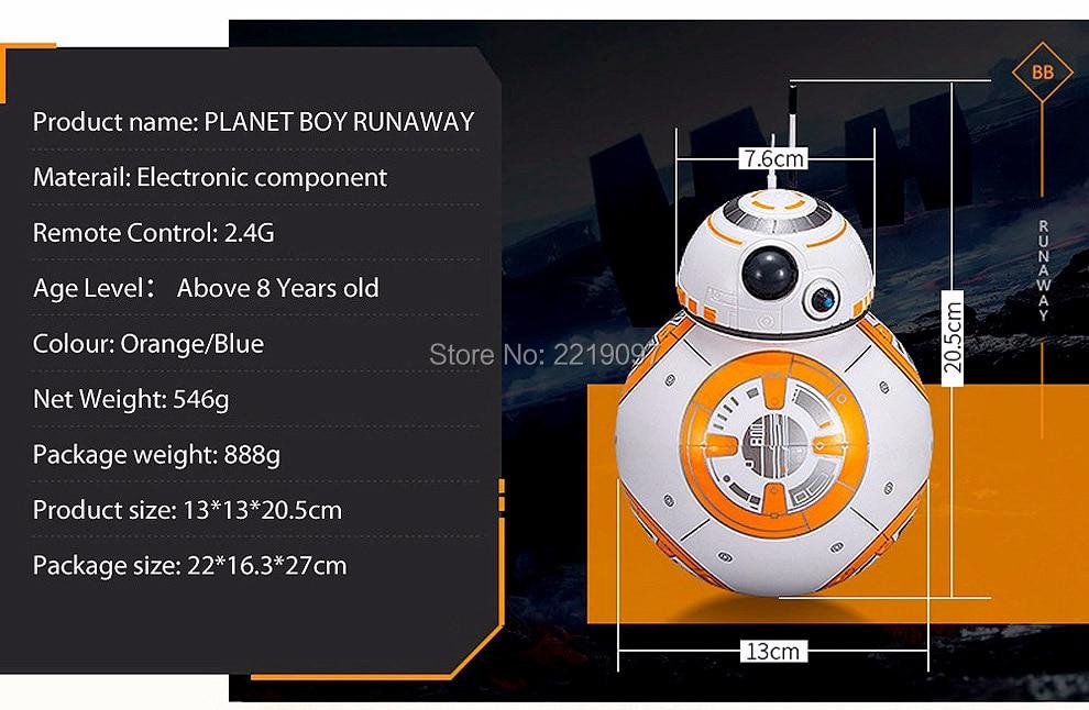 Star Wars Remote Control BB-8 Robot 20.5cm 8