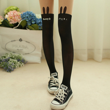 2015 New Style  Collage Wind Devil Tatto Printed Nude Black Spliced Fake Knee High Stocking Tights Pantyhose  Retail/Wholesale