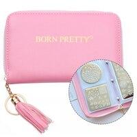 BORN PRETTY Pink Nail Stamping Plate Holder Case Round Square Rectangular Nail Art Plate Organizer 24