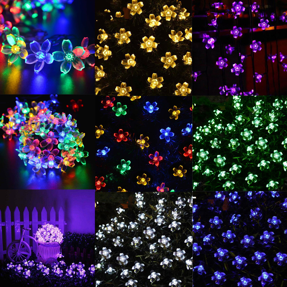 tienda online solar impermeable exterior multicolor led cadena luces luces navidad wedding party holiday decoracin flores de cerezo aliexpress mvil
