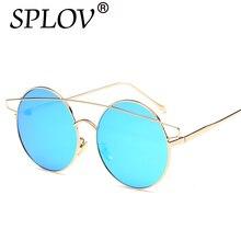 2017 the new hd doble haz gafas de sol gafas de sol de las mujeres gafas de sol de conducción hombres de moda femenina espejos ronda vintage gafas masculinas