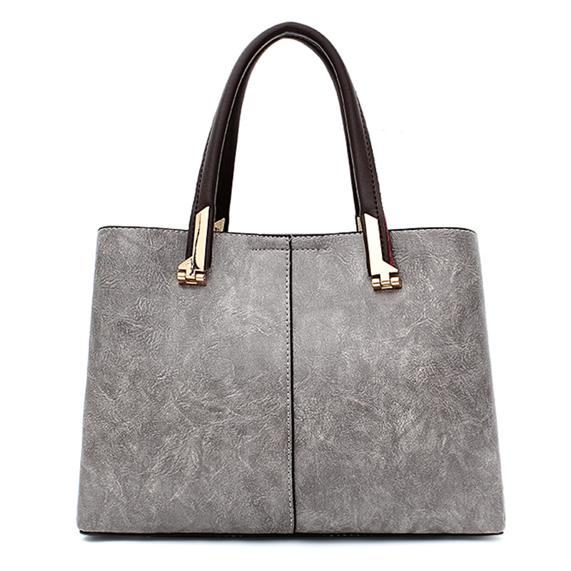 21d1c3f59321 Fashion 2018 PU Leather Shoulder Bag Ladies Autumn Handbags Famous Brands  Women Black Saffiano Tote Bag New Casual Women Bag-in Shoulder Bags from  Luggage ...
