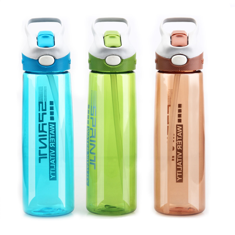 650ml/750ml New <font><b>Fashion</b></font> Outdoor Sport Water Bottle <font><b>Straw</b></font> <font><b>Plastic</b></font> Space <font><b>Cup</b></font> Concise Solid <font><b>Travel</b></font> <font><b>Cup</b></font> Size 27.5*7*7cm AB2239