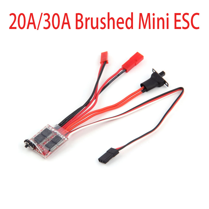 20A/30A Brushed Mini ESC Electric Speed Contrl With Brake Switch For WPL C14 JJRC Q64 RC Car Boat Parts(China)