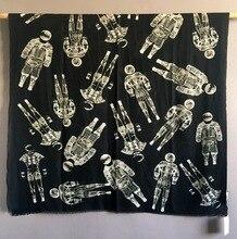 טהור קשמיר צעיף נשים מעצב יוקרה מותג אסטרונאוט צעיפי בנדנות צעיפי כורכת חורף סתיו חם Femme צעיף 110*200