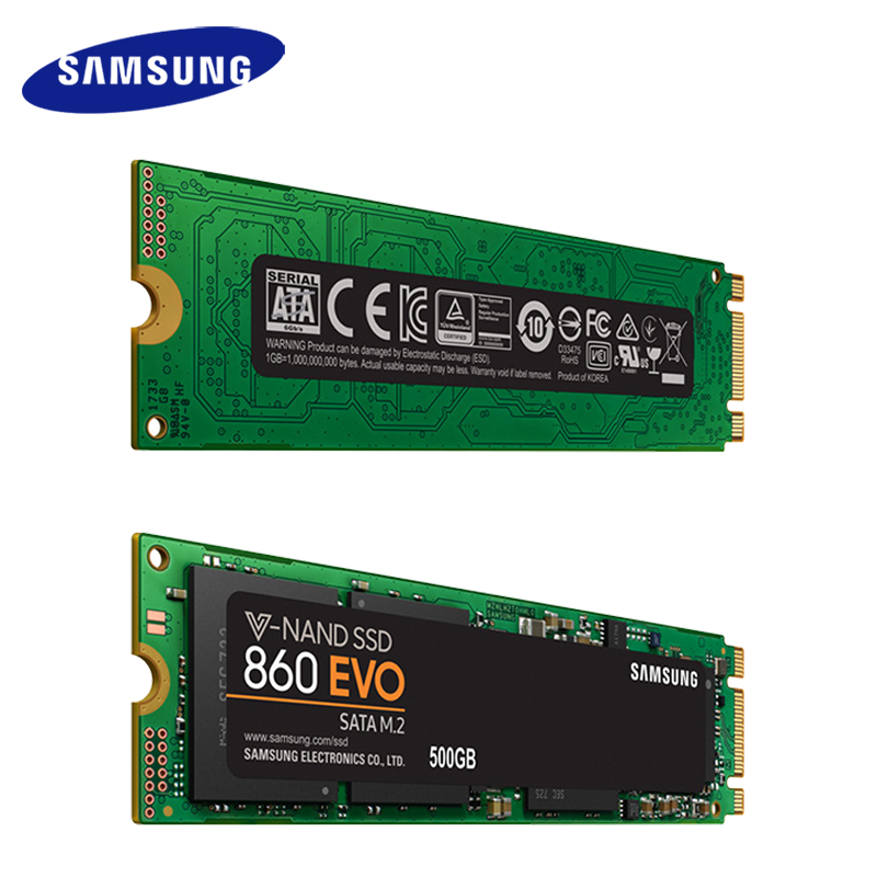 Samsung SSD M.2 860 EVO Interne SSD 250 GB 500 GB 1 TB 2 TB M.2 Solid State Drive Disque Dur haute Vitesse pour Ordinateur Portable PC Ordinateur