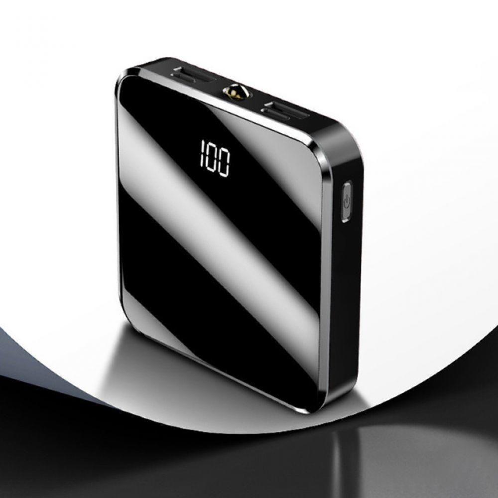 Portable Mini Power Bank 20000mAh Mirror Screen Digital Poverbank External Battery Pack Powerbank For iPhone Xiaomi Samsung S9 usb battery bank charger