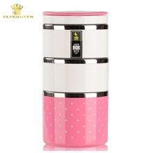 3 schicht 1230 ML Edelstahl Lunchbox mit griff Thermos für Lebensmittelbehälter isolierung Student Bento box
