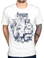 2017 Hot Sale Mens Adventure Time Group Splat T Shirt Finn Jake Ice King Lemongrab Dd Printed T Shirt Own Style Tees