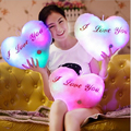 Hot Colorful Heart Luminious Pillow LED Light Cushion Plush Decorative Pillow  Kids Toys Christmas Toys Valentine's Day Gifts