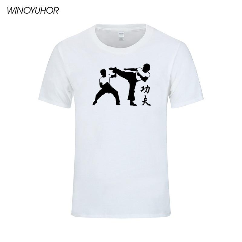 Мужская хлопковая футболка с принтом KungFu, летняя брендовая футболка в китайском стиле, Camisetas Masculina, 2019