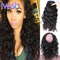 Iwish Water Wave 360 Lace Frontal Band With Adjustable Straps Peruvian Virgin Hair With Frontal With Baby Hair Natural Hairline
