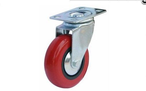 3 Inch Anti Wrap Round Shelf Wear Wheel Barrow Wheels Furniture Caster