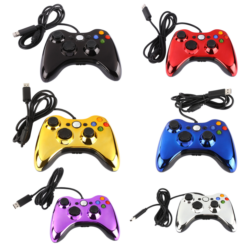 6 Color USB Wired Game Controller Hand Grip Joypad Gamer Gamepad Classic Video Games Joystick Electroplated