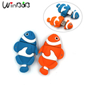 100% Real Capacity Creative Fish Light Gift USB Pendrive Flash 4GB 8GB 16GB 32GB 64GB 128M 256M 512M TF Card Free Shipping
