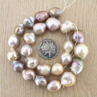 Fashion Baroque Natural Freshwater Pearl Loose Beads 13 16mm Good Quality Irregular Pearl Beads Strands Necklaces Gifts EE3012
