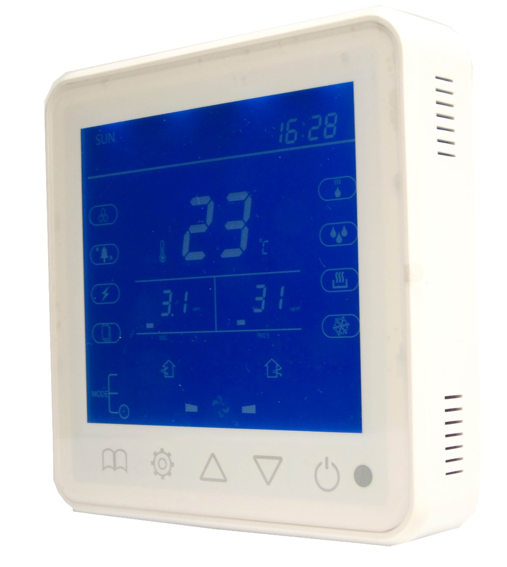RS485 control CO2 VOC Indoor air quality monitoring instruments with Relay fan Ventilator control