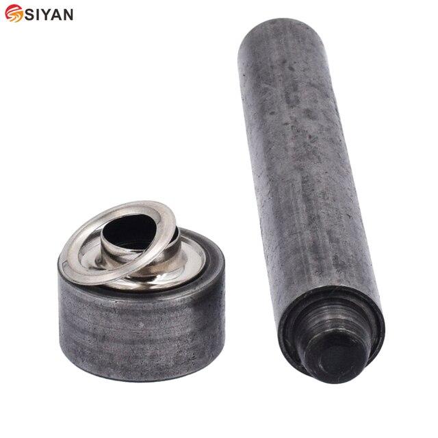 Ojales de la herramienta de instalación bricolaje cordones Ojo de Metal ojal agujero herramientas remache Metal botón accesorio de ropa reparación, costura morir 3mm-40mm