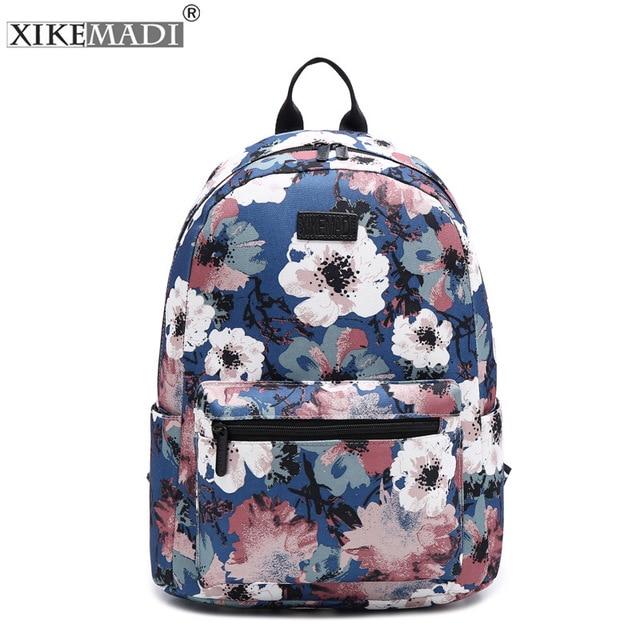Cute Flower Women Designer School Backpack Fashion Brand Leather ...