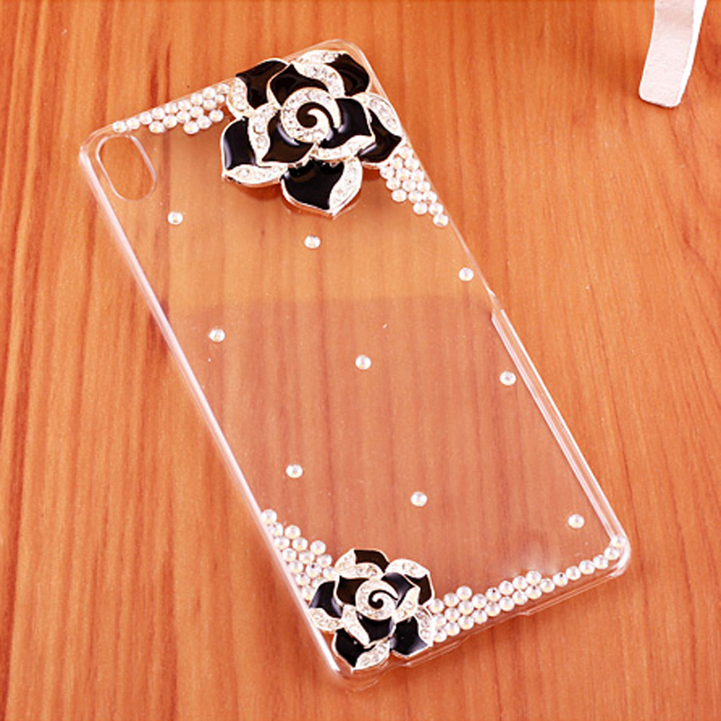Case for Sony Xperia XA1 XA White Black Pink Camellia Clear plastic Case for Sony e5 cover for Sony Xperia E5 F3311 F3313 Cases