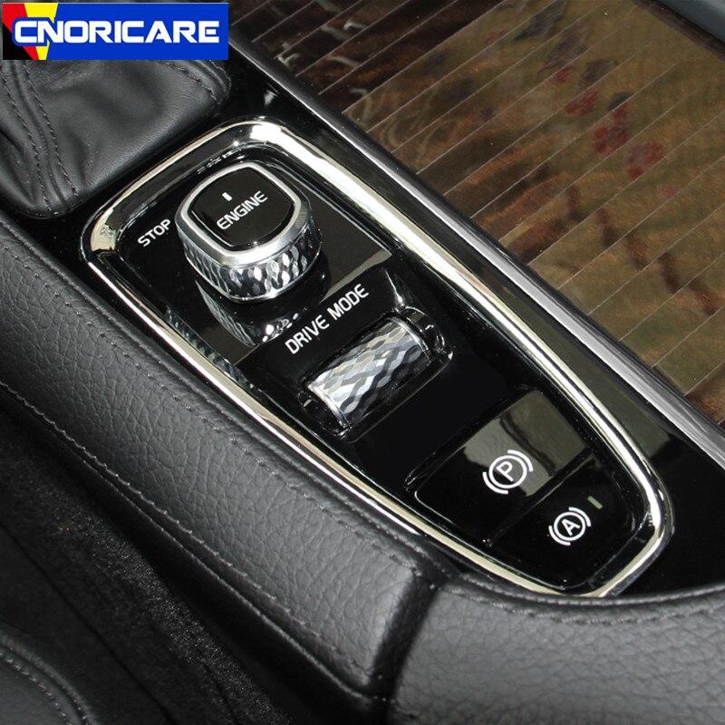 Auto Center Console Armlehne Getriebe Stall BrakeHand Rahmen Dekoration Aufkleber Trim Für Volvo XC90 S90 V90 2016-18 Innen decals