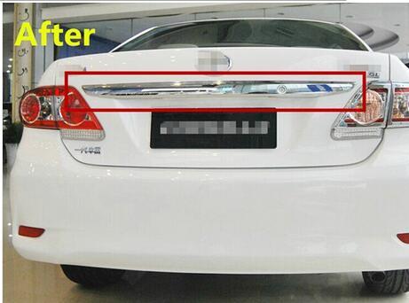 For Toyota Corolla 2011 2012 2013 Abs Chrome 1pc Per Set Car Rear Trunk Molding Lid Cover Trim chrome rear trunk lid cover trim for toyota highlander 2009 2010 2011 2012 2013