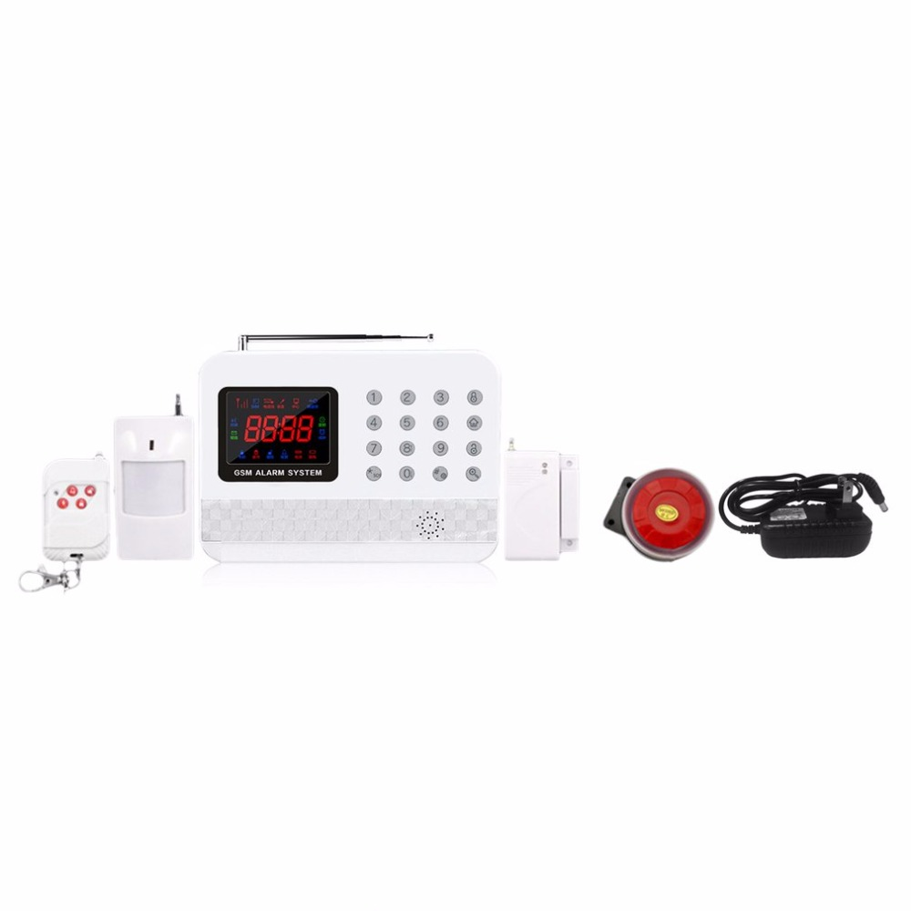 Wireless Smart Digital GSM Alarm G61 Home Burglar Security Alarm System Detector Sensor Kit Remote Control 8 Modes 315/433 MHz 433mhz dual network gsm pstn sms house burglar security alarm system fire smoke detector door window sensor kit remote control