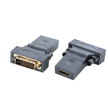 DVI to HDMI adapter DVI24+1 Male to HDMI Female 360 degree rotation HD connector