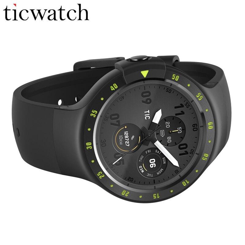 Ticwatch S Sport Intelligente Orologio MT2601 Android Usura 2.0 di Posizionamento GPS Frequenza Cardiaca IP67 Acqua Smartwatch Resistente Display OLED