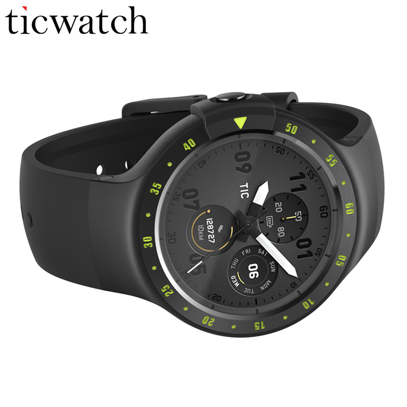 Ticwatch S Sport Montre Smart Watch MT2601 Android Porter 2.0 GPS Positionnement Coeur Taux IP67 Résistant À L'eau Smartwatch ÉCRAN OLED
