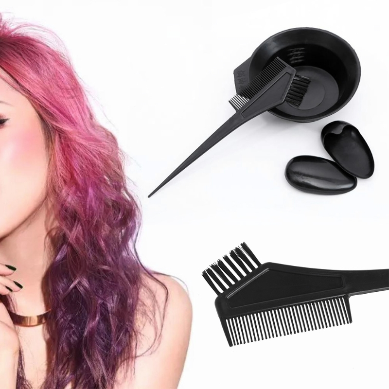 Salon Barber Hair Coloring Dyeing Bowl Comb Dye Color Brush Tint Tool Kit Set
