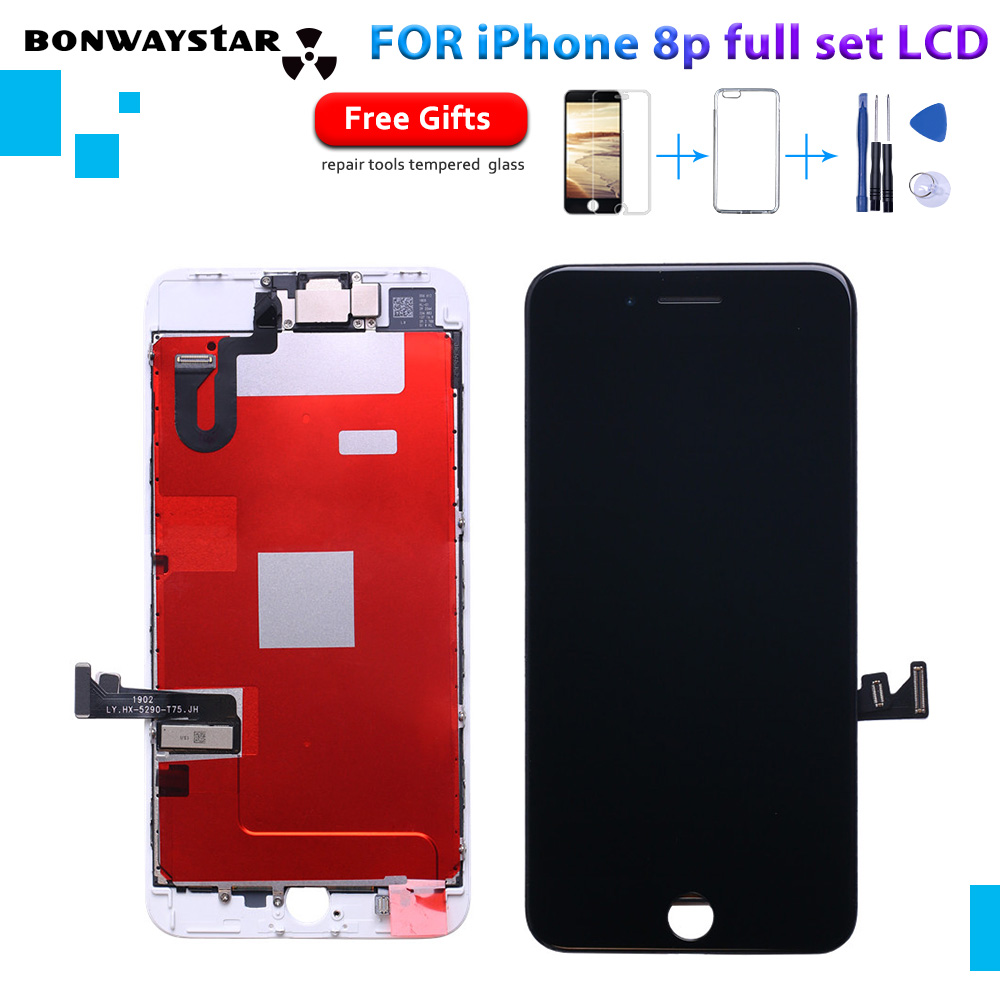 AAA+++ Full Set Complete Digitizer Assembly Replacement  For iPhone 8P LCD Display Good 3D Touch Front Camera with free shipAAA+++ Full Set Complete Digitizer Assembly Replacement  For iPhone 8P LCD Display Good 3D Touch Front Camera with free ship