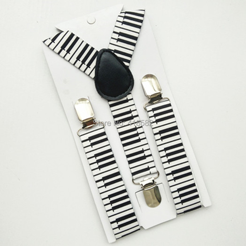 BD032-S New Fashional Baby Suspender For Wedding Piano Key Print Y- Back Adjustable Suspender For Kics Free Shipping