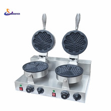 220V/110V Double headed heart shaped waffle machine heart – shaped Wo Fu cake waffle machine factory