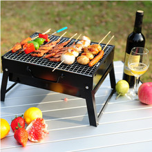 Outdoor Mini Barbecue Grills Portable Hiking Camping Family Charcoal BBQ Grills Black