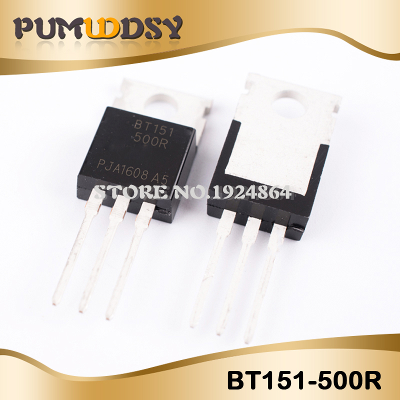 10pcs/lot BT151 800R BT151 12A800V Thyristors TO 220 IC-in Transistors from Electronic Components & Supplies