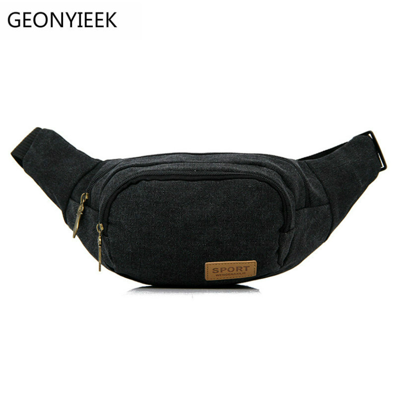 Casual Canvas Waist Bags Men And Women Funny Pack Men's Belt Bag Men Chest Pack For Phone Bags Bum Bag Male Portable Belt Pouch men male casual functional canvas bag waist bag money phone belt bag pouch bum hip bag shoulder belt pack 2018