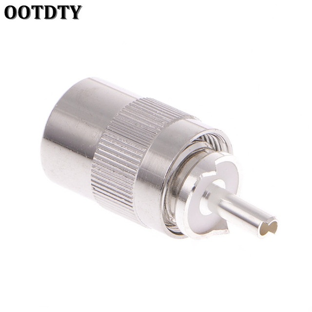 OOTDTY UHF Male PL259 Plug Solder RG8 RG213 LMR400 7D-FB Cable Connector Silver Electrical Equipment & Supplies