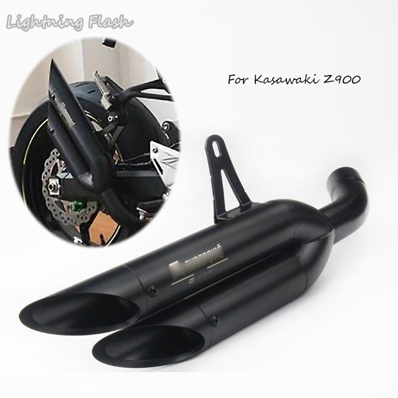 Pour Kawasaki Z900 toutes les années 51mm moto système complet tuyau d'échappement avec lien tuyau en acier inoxydable moto évasion modifier