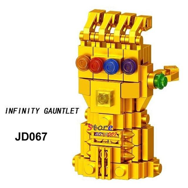 Único Infinito Manopla Super Heróis Vingadores Marvel Thanos 3 Infinito Guerra Modelo building blocks brinquedos para crianças