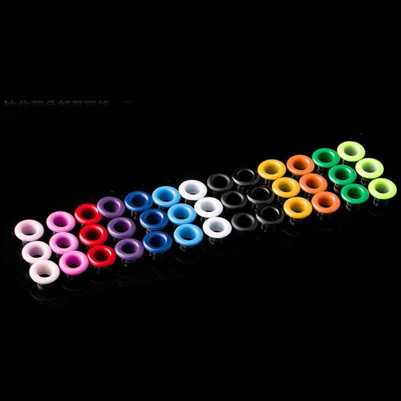 100 piezas mezcla de Color espray Gas ojales remaches maíz materiales DIY ojales de Color hebilla Multicolor cordones ojo agujero de Metal 4 -6mm
